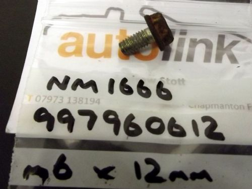 Bolt, M6, MX-5, 12mm, 997960612, USED